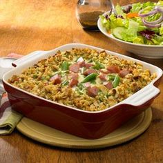 Smoked Sausage Casserole Recipe from our friends at Johnsonville