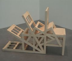 Margin of Accident / Running Gag - by Damián Ortega Weird Furniture, Furniture Design, Land Art, Contemporary Sculpture, Contemporary Art, Damian Ortega, Take A Seat, Installation Art, Sculpture Art