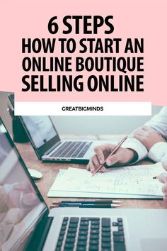 Learn how to start online boutique business in 6 simple steps. By the end of this step by step tutorial, you would have learned how to build a profitable online clothing boutique today. Read more inside. #onlinestore #onlineboutique #onlineclothingboutique #onlineboutiquebusiness #ecommerce