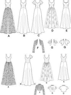 Cute vintage wedding dress pattern