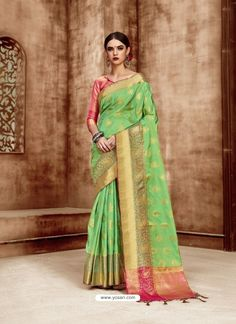 a0302ab861ea6 12 Best Attractive Zari Weaved Silk Saree images