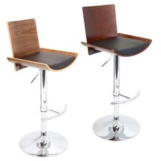 Vittorio Mid-Century Modern Wood Adjustable Barstool | Overstock.com Shopping…