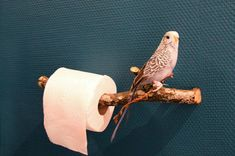 DIY Toilet Paper Holder from a branch