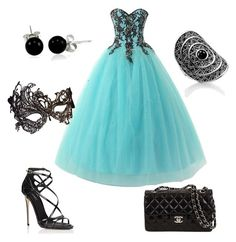"""""""masquerade outfit"""" by joannt35 on Polyvore featuring Dolce&Gabbana, Bling Jewelry, Masquerade and Thomas Sabo"""