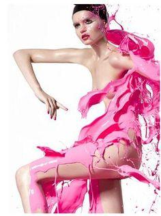 Pink Splash: Emily Green from Vivien's Model Pink Love, Pretty In Pink, Hot Pink, Paint Splash, Color Splash, I Believe In Pink, Everything Pink, Color Rosa, Happy Girls