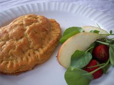 Gourmet empanada, with cherry tomatoes and goat cheese.