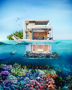 The Floating Seahorse Dubai - Underwater Housing Development - Supercompressor.com