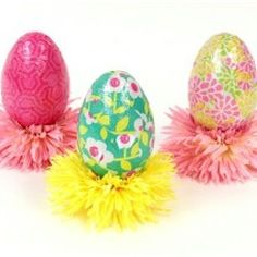 Gift Wrap Eggs Craft