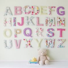 Large Cotton ABC : Nursery Wall Decor and Learning Soft Toy