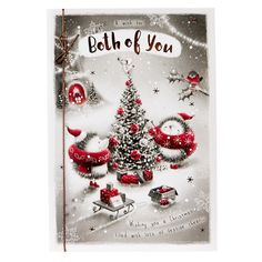 Signature Collection Christmas Card - Both Of You Hedgehogs | Card Factory