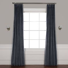 Amazon.com: Half Price Drapes VPCH-194023-108 Signature Blackout Velvet Curtain, Midnight Blue, 50 X 108: Home & Kitchen