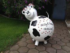 Kuh XXL  Bauernhof, Hofladen, Geschenk Geldgeschenk Briefbox Hochzeit Geburtstag