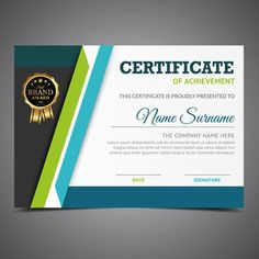 Green And Blue Diploma Template Make Business Cards, Beauty Business Cards, Printable Business Cards, Business Card Design, Green Certificate, Certificate Layout, Certificate Design Template, Certificate Border, Lipsense Business Cards