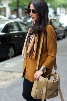#streetstyle #zara #fashion #mustard #earthy #ochre