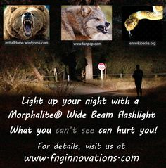 Not every critter in the night is your friend!  Having a Wide Beam flashlight takes the guess work out of where the noise is coming from.  Be prepared!
