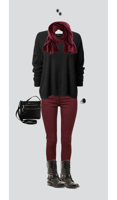 """Kinda edgy fall look"" by meg5494 on Polyvore"