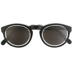 Retrosuperfuture Paloma Sunglasses ($155) ❤ liked on Polyvore featuring accessories, eyewear, sunglasses, metallic, retrosuperfuture, metallic sunglasses, black glasses, retrosuperfuture sunglasses and metallic glasses