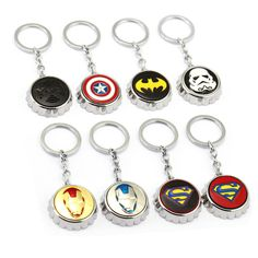 >> Click to Buy << Ten Type Movie Series Key Chain Superman X-Man Iron Man Metal Pendant Corkscrew Design Key Chains Keyring For Boys Gift #Affiliate