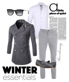 WINTER ESSENTIAL FOR HIM by thenarshamissry on Polyvore featuring polyvore, Stone Rose, Calvin Klein, Ray-Ban, men's fashion, menswear and clothing