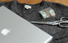 DIY Sweater Laptop Sleeve | Protect your back to school tech with this easy DIY. We'd love to see how crafty we can get. #DiyReady www.diyready.com