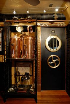 Steampunk door and still by Bruce Rosenbaum in his Steampunk home. http://www.steampuffin.com/
