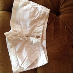 White shorty shorts These are never worn, cotton low rise white shorts! Very comfortable but didn't fit me the way I liked. Mossimo Supply Co Shorts Jean Shorts