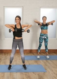 This 30-minute workout gets it done! Led by Barry's Bootcamp instructor Allie Cohen, you keep moving throughout the video and work up a serious sweat while working your entire body. All you need is a set of medium-weight dumbbells.