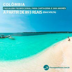 Compre passagem aérea promocional para a Colômbia!    Saiba mais:  https://www.passagemaerea.com.br/promocao-colombia-2015-2016.html   #colombia #sanandres #cartagena