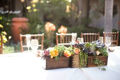 Succulents and Rose Centerpieces
