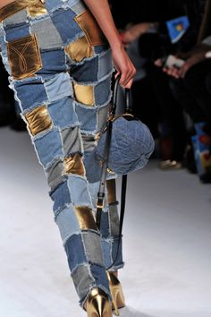 Denim And Lace, Leather And Lace, Denim Dye, Denim Fashion, Fashion Outfits, Mode Jeans, Baby Couture, Denim Patchwork, Denim Trends