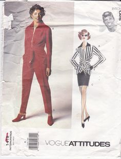 Vogue Sewing Pattern Zipper Jacket, Skirt and Pants by Designer Byron Lars Vogue Pattern 1419 Size 8 by Trendyfashionforyou on Etsy