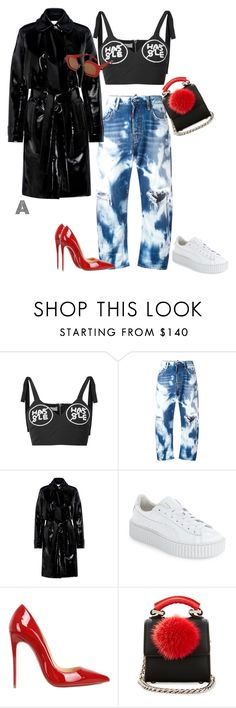 """""""Untitled #580"""" by stylzbyang on Polyvore featuring Dsquared2, Carven, Puma, Christian Louboutin, Les Petits Joueurs and Marni"""