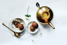Dark Chocolate Semifreddo / Photo by Eva Kolenko, Food Styling by Susie Theodorou, Prop Styling by Kalen Kaminski