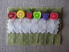 Decorated Pins - Mixed Fruits - Puntini Puntini