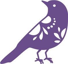 Silhouette Online Store - View Design #11059: birdie 2