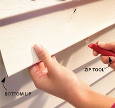 How to Replace Vinyl Siding (DIY)   Family Handyman Barn Siding, Exterior Siding, Vinyl Siding Repair, Diy Household Tips, Cleaning Tips, Garage Door Opener Repair, Barn House Kits, Roofing Nails, Project Steps