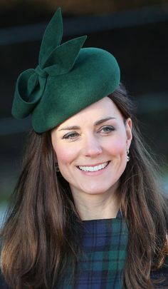 Catherine, Duchess of Cambridge leaves the Christmas Day service at Sandringham on December 25, 2013 in King's Lynn, England.