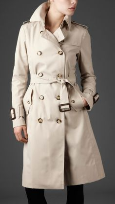 Classic Burberry trench coat.