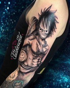 75 TATUAGENS LUFFY ( ONE PIECE ) INCRÍVEIS - Natan Bazanelli One Piece Tattoos, Pieces Tattoo, Gangsta Tattoos, Anime Tattoos, One Punch Man, Monkey D. Luffy, Tatuagem One Piece, Ace Tattoo, One Piece Ace