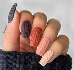 Almond Acrylic Nails, Fall Acrylic Nails, Fall Almond Nails, Stylish Nails, Trendy Nails, Fall Nail Art Designs, Nails Design Autumn, French Nail Designs, Cute Nail Designs