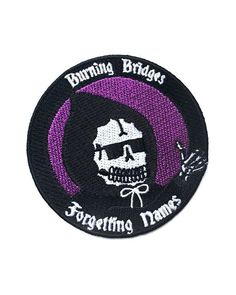 Burning bridges and forgetting names since I was born. It's because I'm dead inside. embroidered patch Iron-on backing Measurements: By Inner Decay Punk Patches, Cool Patches, Pin And Patches, Iron On Patches, Jacket Patches, Diy Patches, Survival Knots, Burning Bridges, Nerd Fashion