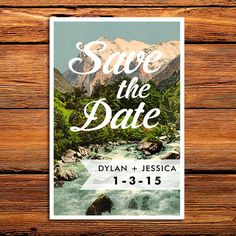 Customized Rustic Save the Date Background - DIY Wedding - Outdoor Wedding - Printable Save the Date - Digital - Mountain Stream