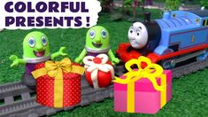 Learn Colors with the funny Funlings Colorful Presents and Thomas & Friends toy trains. The Funlings must deliver the correct color present to the right colo. Toy Trains, Learning Numbers, Royalty Free Music, Thomas And Friends, Learning Colors, Toy Story, The Funny, Minions, Kids Toys
