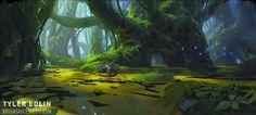 Swamp Guy by Tyler edlin Fantasy Illustration, Landscape Illustration, Fantasy Art Landscapes, New Fantasy, Game Background, Best Artist, Wallpaper S, Photo Art, Concept Art