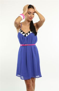 ICI Fashion Cobalt Blue Casual Summer Dress