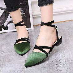 cdd39733fd5 Women s Sexy Pointed Toe Cross Buckle Strap Flats Sandals