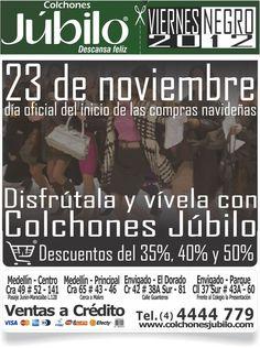 Viernes Negro 2012, Disfrútalo y vivelo con COLCHONES JUBILO Black Friday, Mattresses, Live