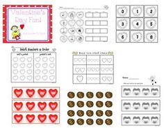 These is 69 page of fun learning activities and centers for your classroom.  They can also be used after Valentine's Day!  There are both math and ...
