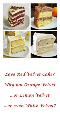 The Velvet Cake Collection - four of our most successful cake recipes ever.