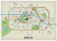 Get Your Guide Berlin #germany #map #design